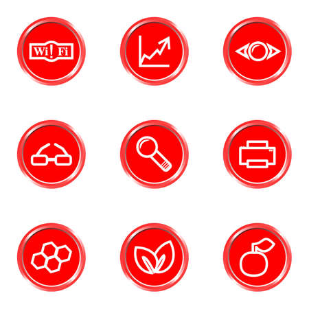 Glossy icons set 16 (see other in my portfolio). Vector