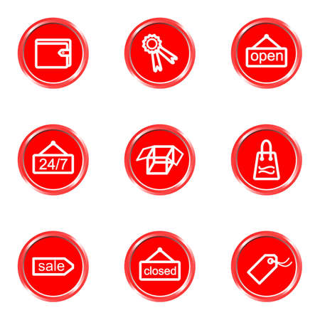 Glossy icons set 17 (see other in my portfolio). Illustration