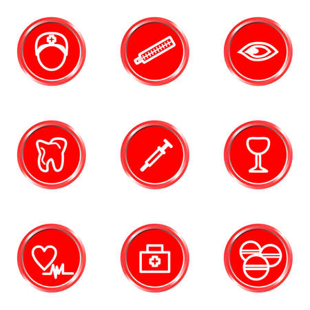 Glossy icons set 22 (see other in my portfolio). Vector