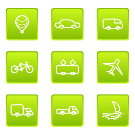 Set of 9 glossy web icons (set 8) Stock Vector - 16630922