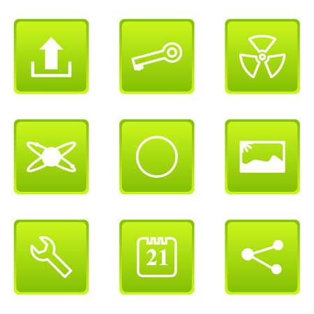 conection: Conjunto de 9 iconos glossy web (conjunto de 14) Vectores