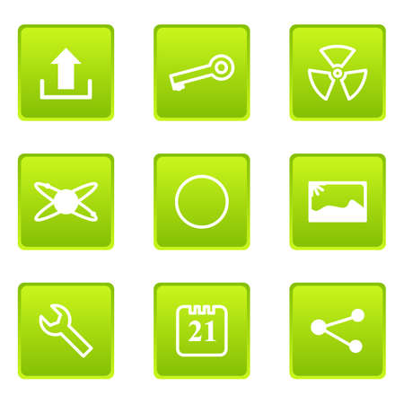 conection: Set of 9 glossy web icons (set 14)