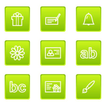 icq: Set of 9 glossy web icons (set 18) Illustration
