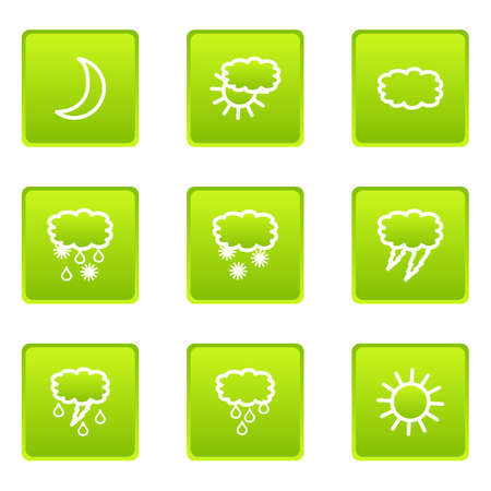 Set of 9 glossy web icons (set 21). Vector