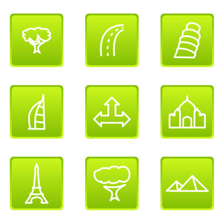 Set of 9 glossy web icons (set 25). Stock Vector - 16630919