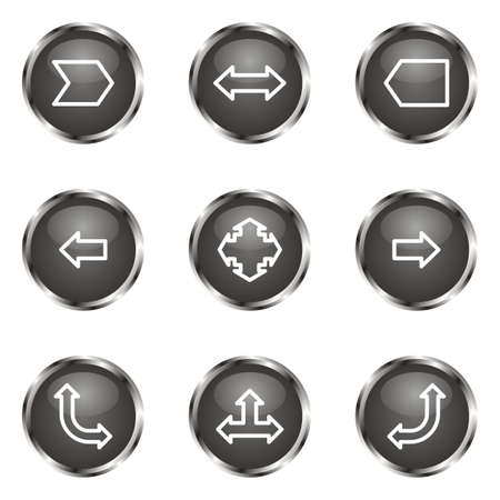 Set of 9 glossy web icons (set 12). Black color. Stock Vector - 16682262