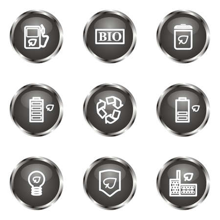 Set of 9 glossy web icons (set 16). Black color. Stock Vector - 16682309