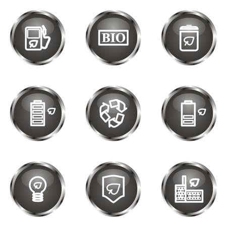 16 9: Set of 9 glossy web icons (set 16). Black color.