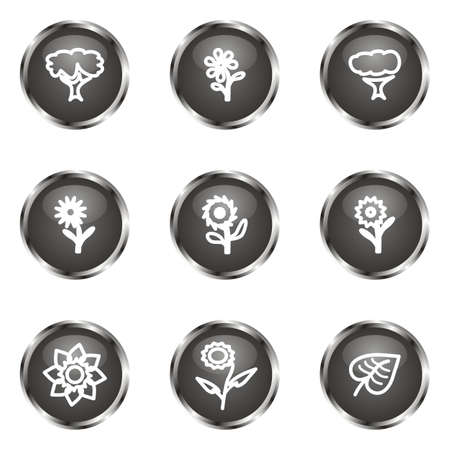 Set of 9 glossy web icons (set 18). Black color. Stock Vector - 16682306