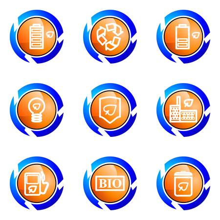 Set of 9 glossy web icons (set 16). Isolated button in various color. Stock Vector - 16682367