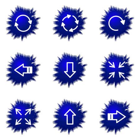 Set of 9 glossy web icons (set 2).