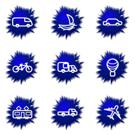 Set of 9 glossy web icons (set 5). Stock Vector - 16710847