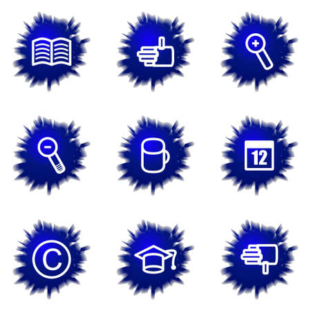 Set of 9 glossy web icons (set 20). Stock Vector - 16710845