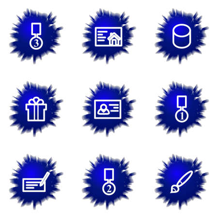 gift accident: Set of 9 glossy web icons (set 25).