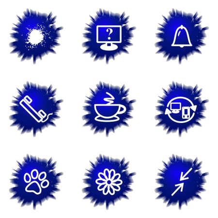icq: Set of 9 glossy web icons (set 26). Illustration