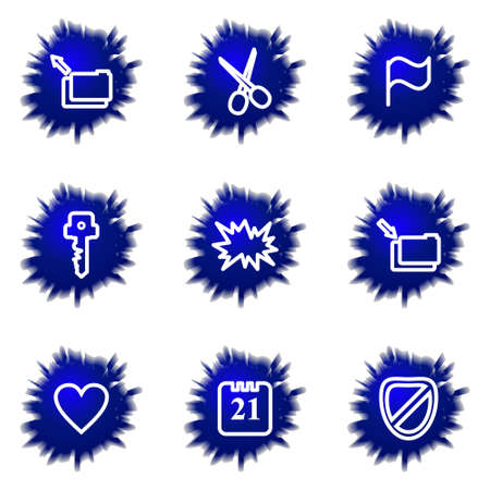 Set of 9 glossy web icons (set 27). Stock Vector - 16710806