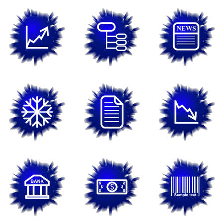Set of 9 glossy web icons (set 29). Stock Vector - 16710907