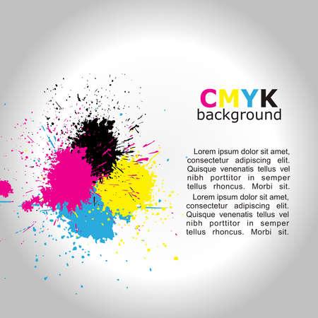 Grunge-Design templete Hintergrund. Vector CMYK Illustration. Standard-Bild - 16710802