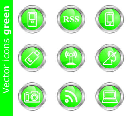 Modern illustration for your web design work (set 1).