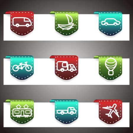 Color  icons set.  navigation template (set 5). Stock Vector - 16876442