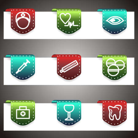 Color  icons set.  navigation template (set 6). Stock Vector - 16876402