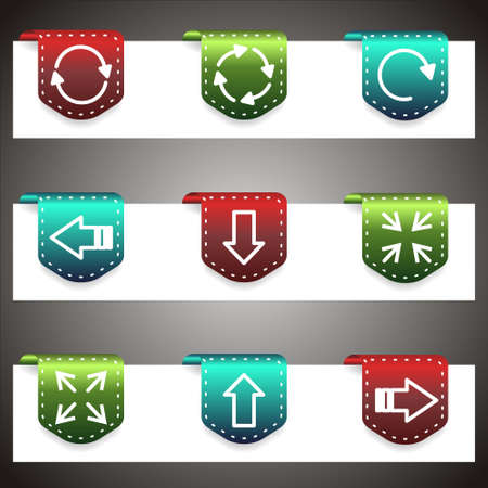 Color  icons set.  navigation template (set 7). Stock Vector - 16876389