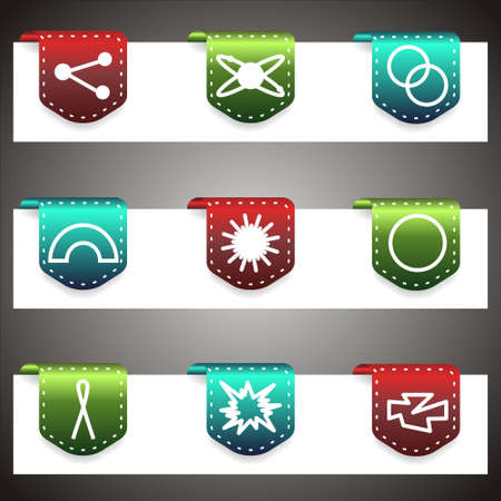 Color  icons set.  navigation template (set 10). Stock Vector - 16876390