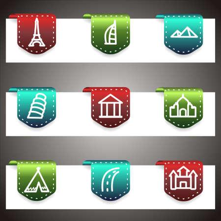 Color  icons set.  navigation template (set 11).   Vector