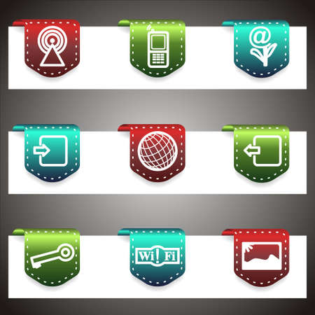 Color  icons set.  navigation template (set 14).  Stock Vector - 16876448