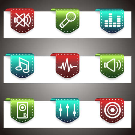 Color  icons set.  navigation template (set 15). Stock Vector - 16876403