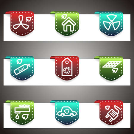 Color  icons set.  navigation template (set 17). Vector
