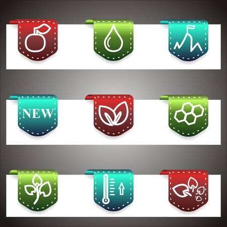 Color  icons set.  navigation template (set 19). Vector