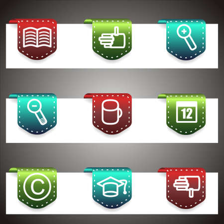 Color  icons set.  navigation template (set 20). Stock Vector - 16876447