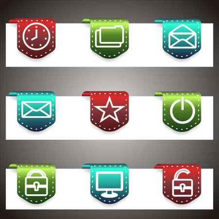 Color  icons set.  navigation template (set 21). Illustration