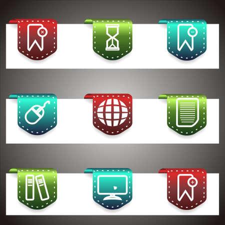Color  icons set.  navigation template (set 22). Stock Vector - 16876391