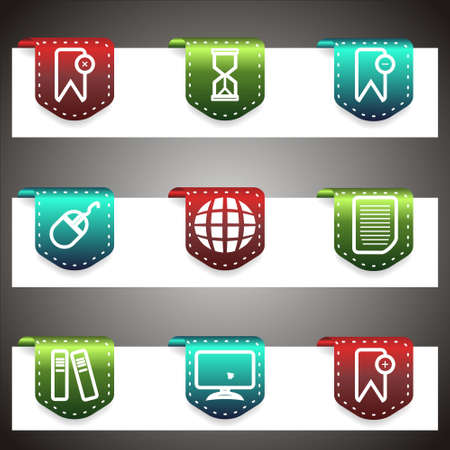 Color  icons set.  navigation template (set 22). Stock Vector - 16876391