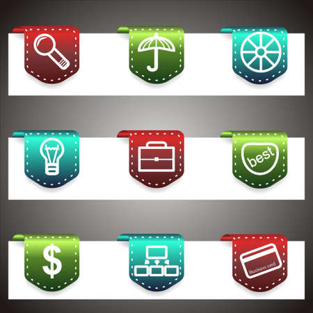 Color  icons set.  navigation template (set 24). Stock Vector - 16876449