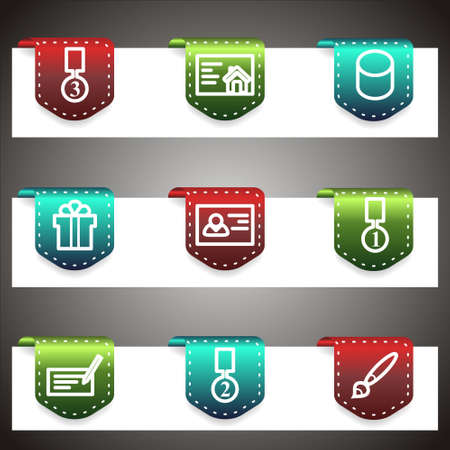 Color  icons set.  navigation template (set 25). Stock Vector - 16876395