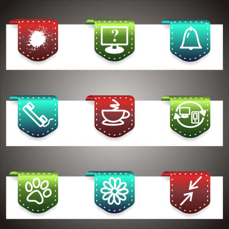 Color  icons set.  navigation template (set 26). Stock Vector - 16876604
