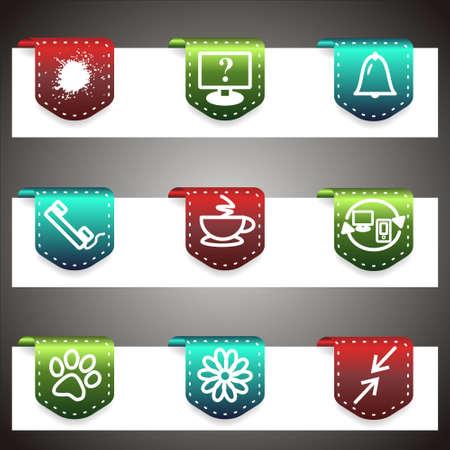 icq: Color  icons set.  navigation template (set 26).