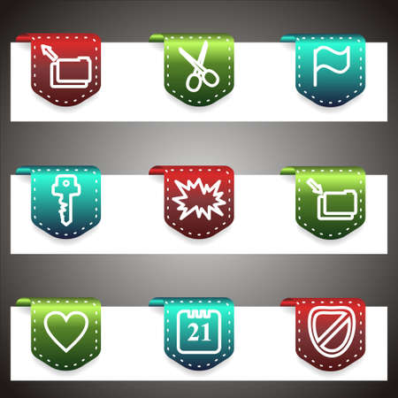 Color icons set.  navigation template (set 27). Stock Vector - 16876050