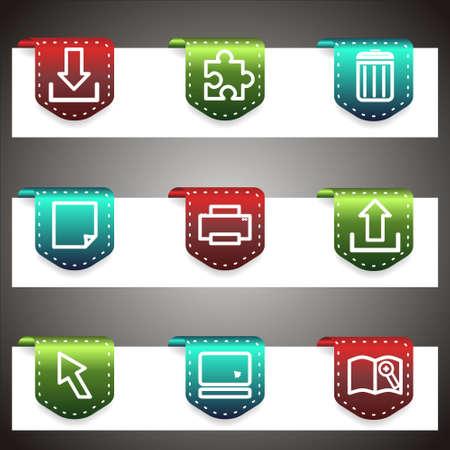 Color  icons set.  navigation template (set 28). Stock Vector - 16876397