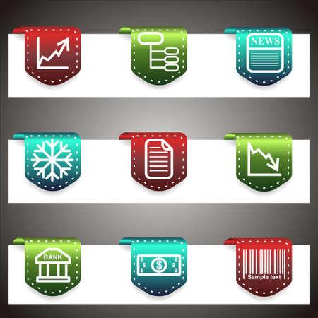 Color  icons set.  navigation template (set 29).