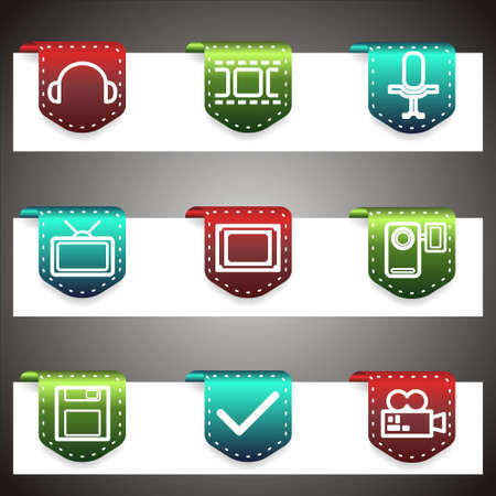 Color  icons set.  navigation template (set 30). Stock Vector - 16876393