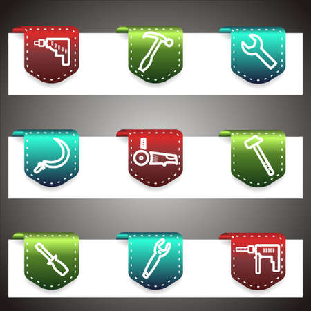 Color  icons set.  navigation template (set 31). Stock Vector - 16876445