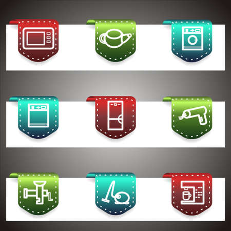 Color  icons set.  navigation template (set 32). Vector