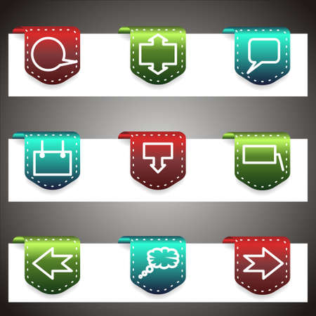 Color icons set. Stock Vector - 16876407