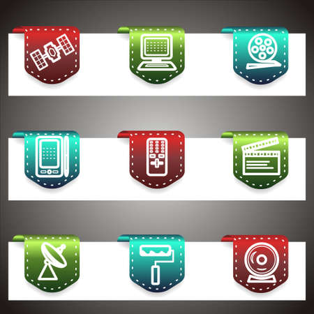 Color  icons set.  navigation template (set 35). Stock Vector - 16876453