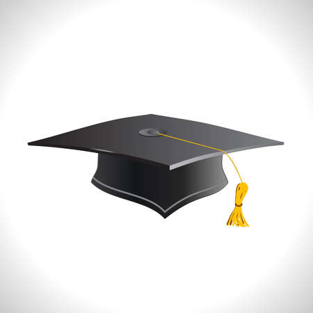 Education. Cap isolated on a white background.