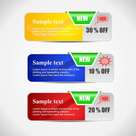 Colorful  set of tree banner for your web design.